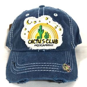 Cactus Club Vintage Baseball Cap Blue Hat
